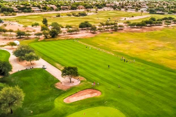 overhead view of Bear Creek Golf Course